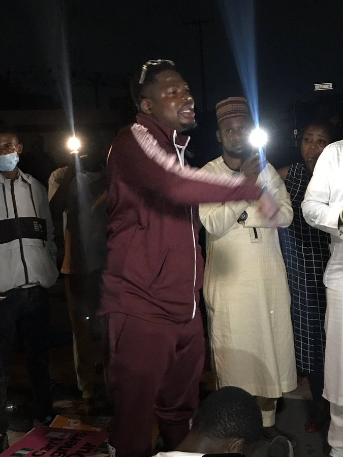 #EndSARSImmediately: Photos From Mr Macaroni, Lagos Youths  Late Night Protest