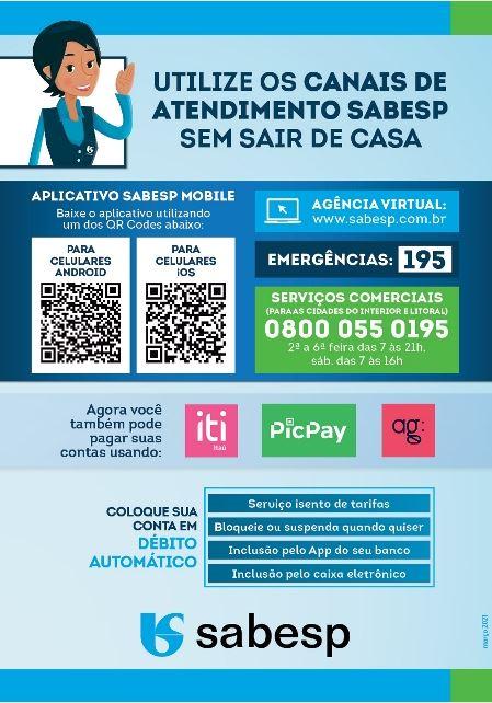 Sabesp prorroga medidas que beneficiam clientes comerciais e de serviços