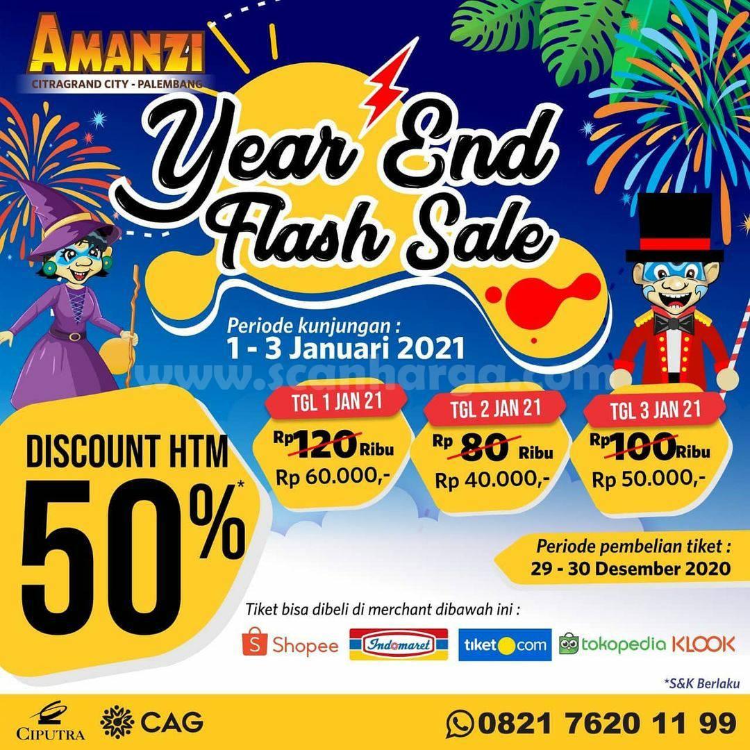Amanzi Waterpark Promo Year End Sale Diskon hingga 50%