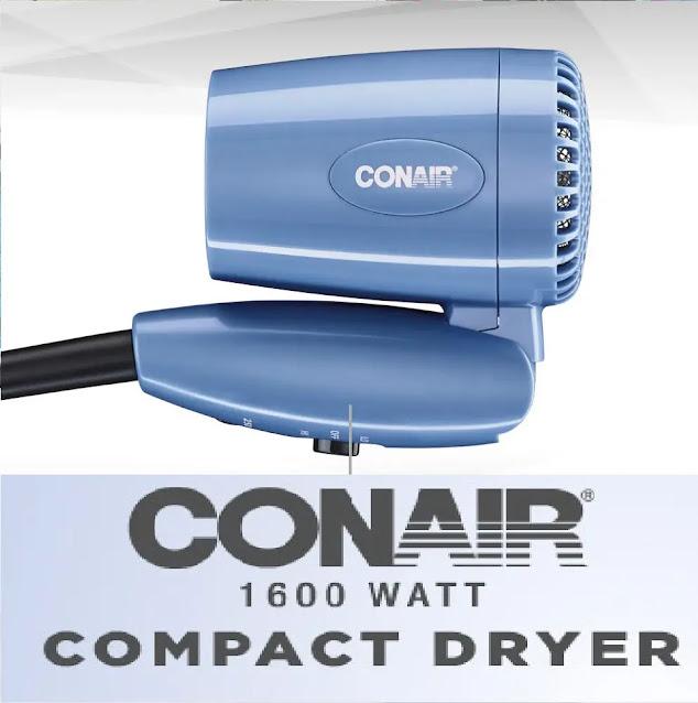 7- Conair 1600 Watt Compact Hair Dryer