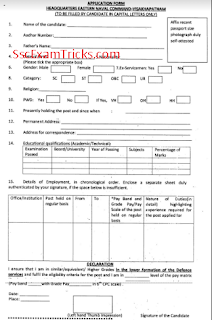 Navy MTS application form