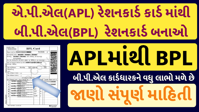 How to change ration card APL to BPL in Gujarat ?