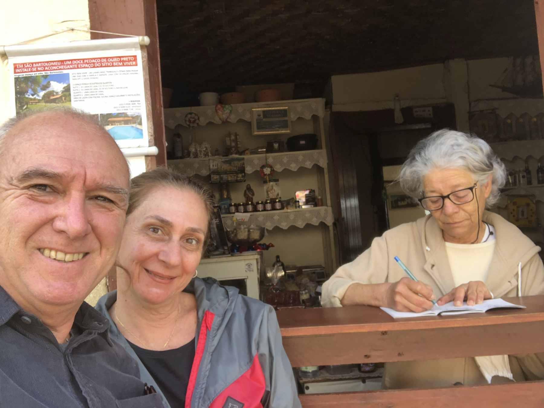 Com dona Serma em São Bartolomeu