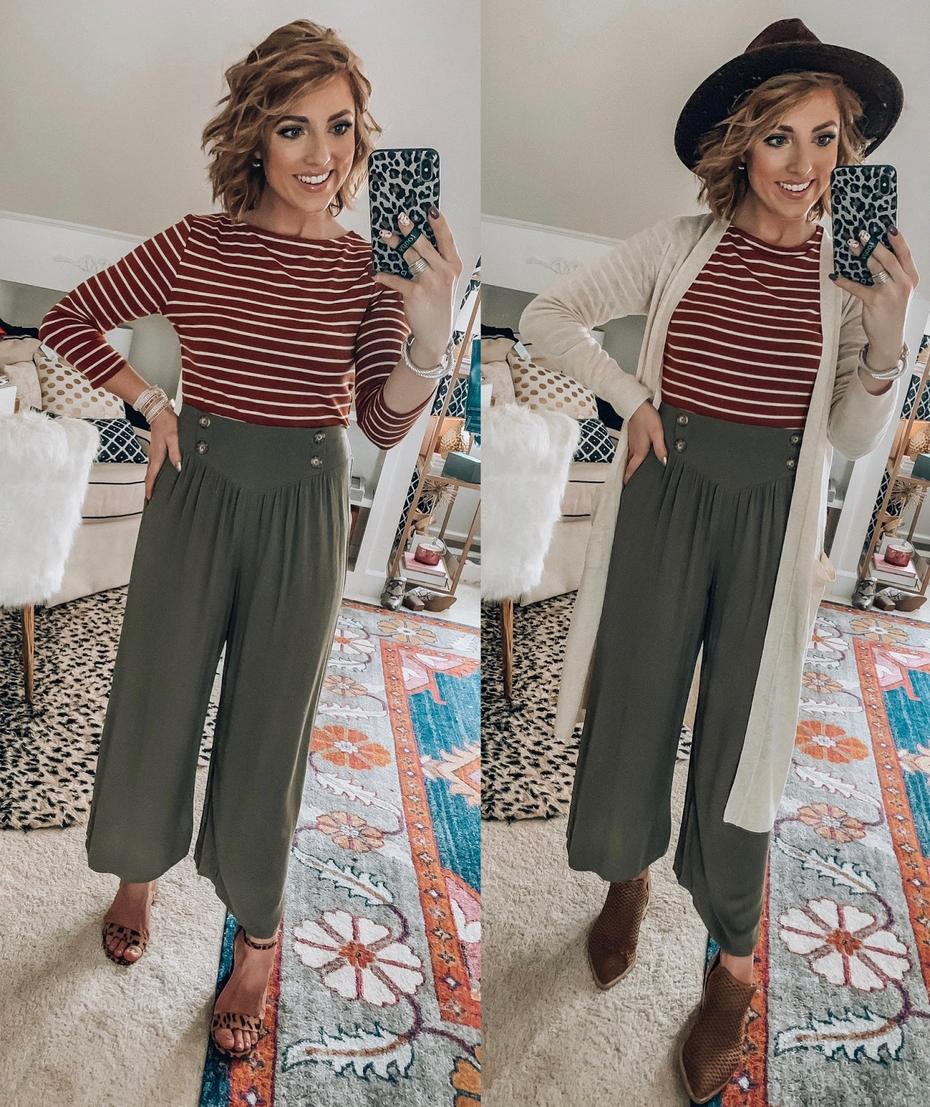 Target Fall Finds: Part Three - Palazzo Pants Styled Two Ways - Something Delightful Blog #FallStyle #TargetStye