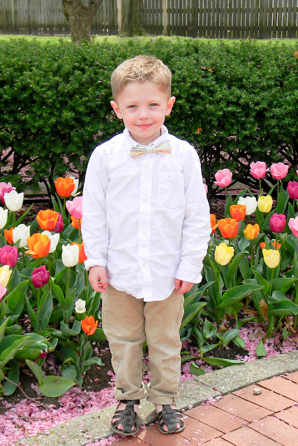 tulips, carthage jail, easter, bow tie, kid fashion
