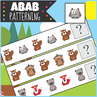 https://www.teacherspayteachers.com/Product/Woodland-Animals-ABAB-Patterning-Activity-3207237