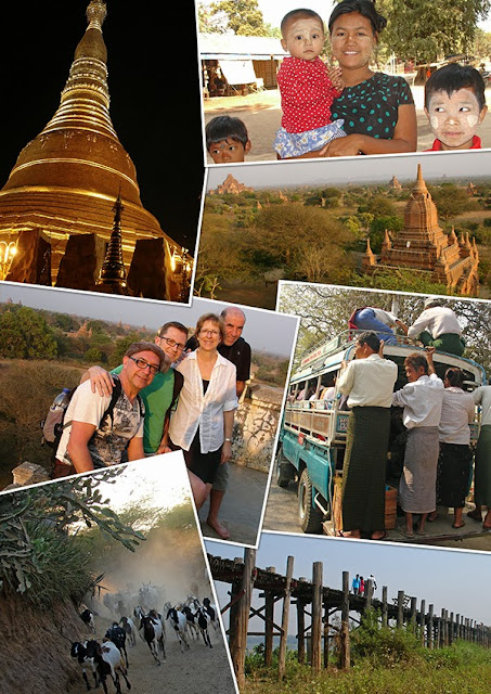 Collage photo du Myanmar