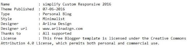 Template Simplify Custom Responsive 2016