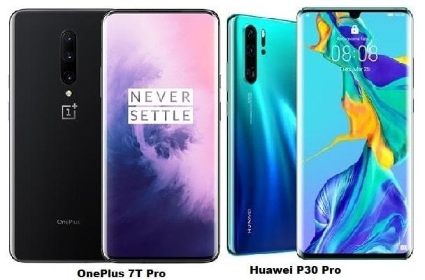 OnePlus 7T Pro Vs Huawei P30 Pro Specs Comparison