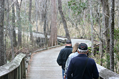 February 28, 2018 Walking the Old Santee Canal Park.