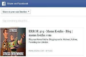 Mengatasi Link Error 404 Saat Share Ke Facebook