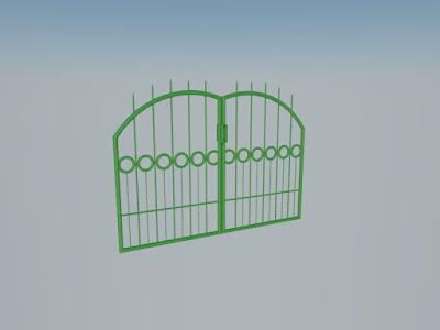 Tralis Pintu 3d Sket Up Material