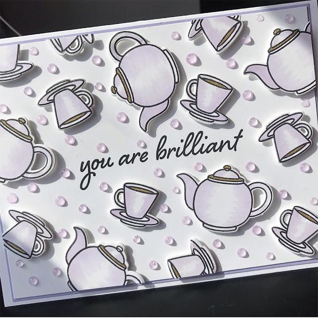 Sunny Studio Stamps: Tea-riffic Customer Card by Ahna Kloppenborg