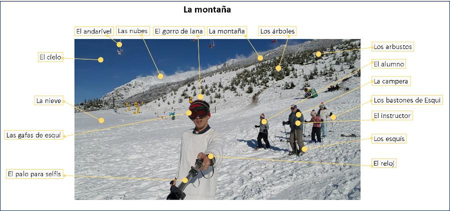Spaanse woorden op de berg
