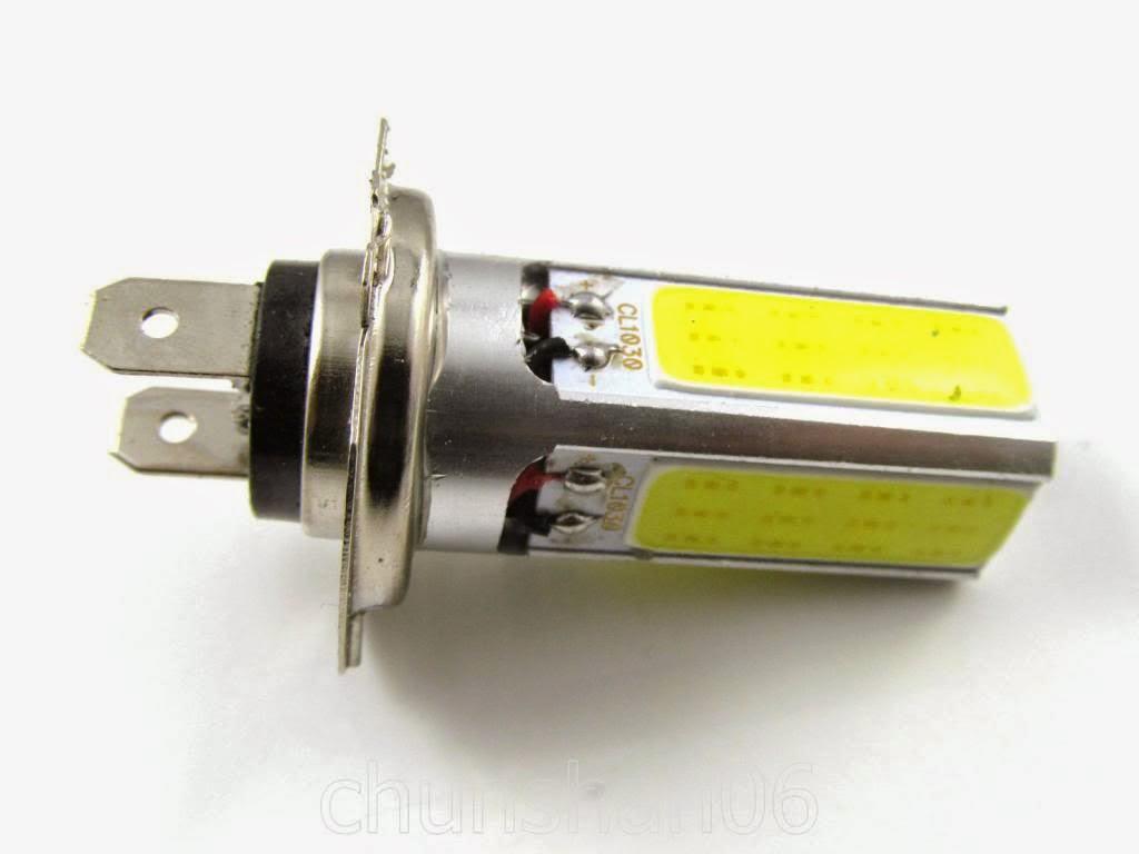 Kit 2 pezzi lampade lampadine led h7 cob 30w luci diurne for Kit lampadine led