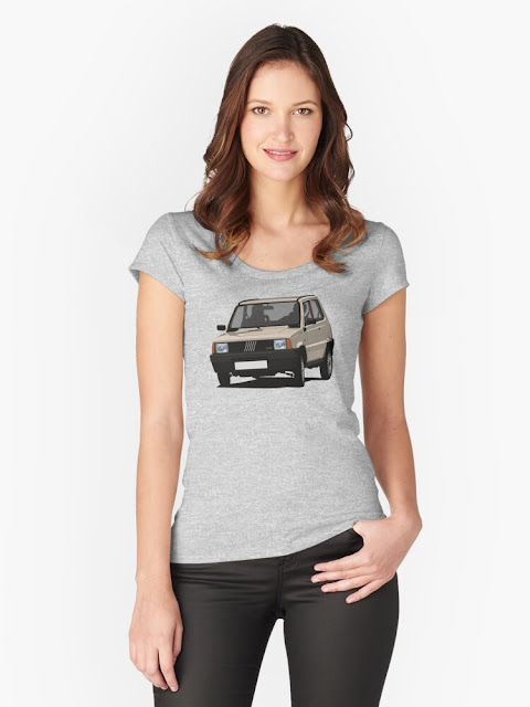Beige Fiat Panda  45 Mk1 t-shirt