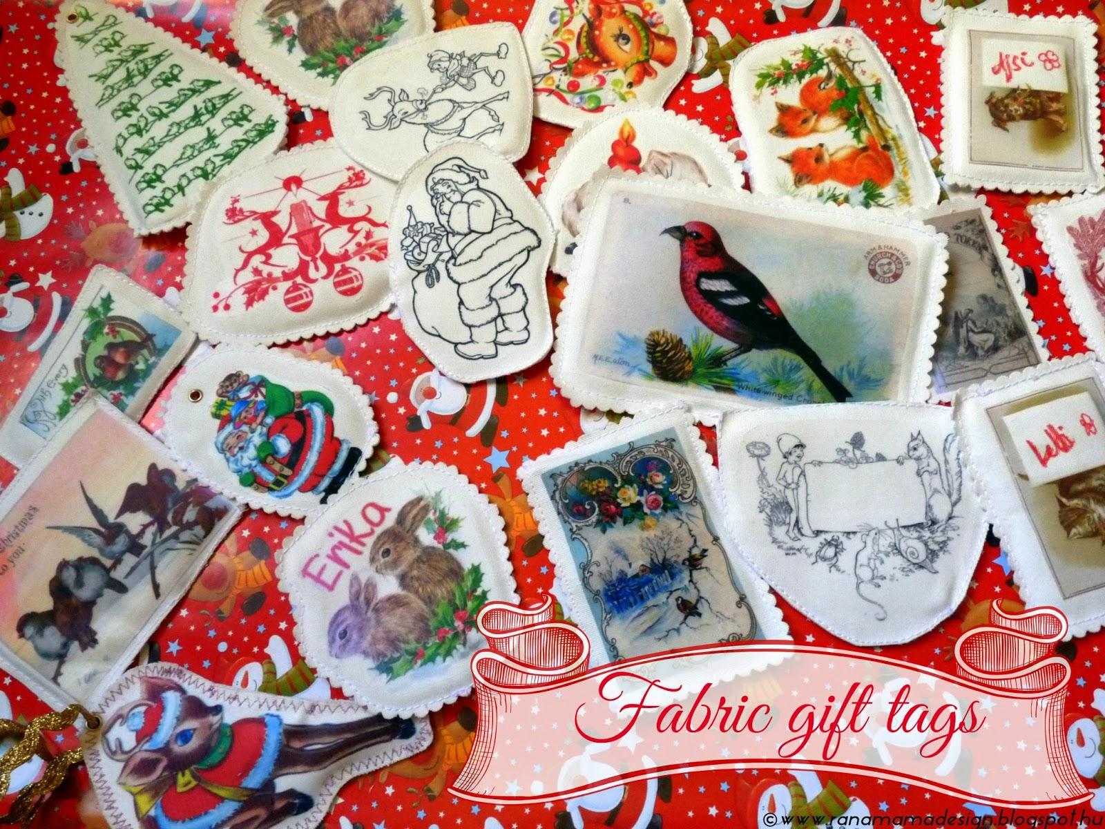 fc06592e08 DIY textil képeslap vagy ajándékkísérő / Last minute DIY darling christmas  postcards or gift tags
