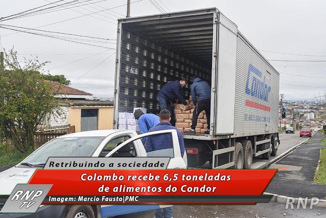 Colombo recebe 6,5 toneladas de alimentos do Condor