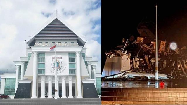 before-after kantor gubernur sulbar