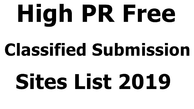 High PR Free Classified Submission Sites List