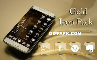 Golden Glass Nova Icon Pack Apk v8.2 [Paid]