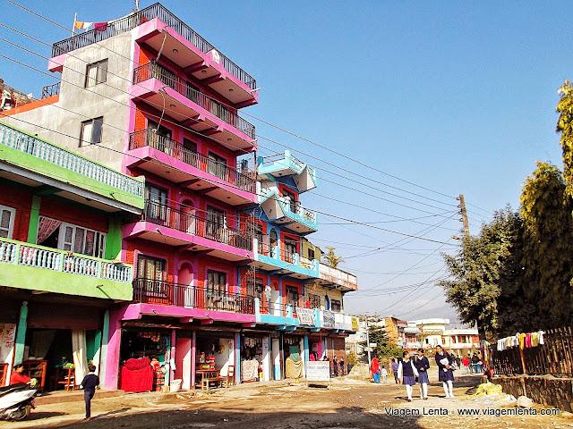 Cena urbana de Pokhara