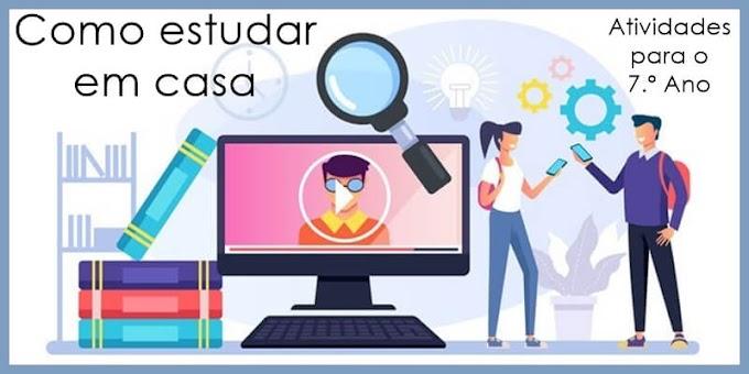Como estudar em casa: rotina de estudos - Atividades de Língua Portuguesa para o 7.º A