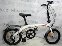Sepeda Lipat Laux Turin 6 Speed Shimano 16 Inci