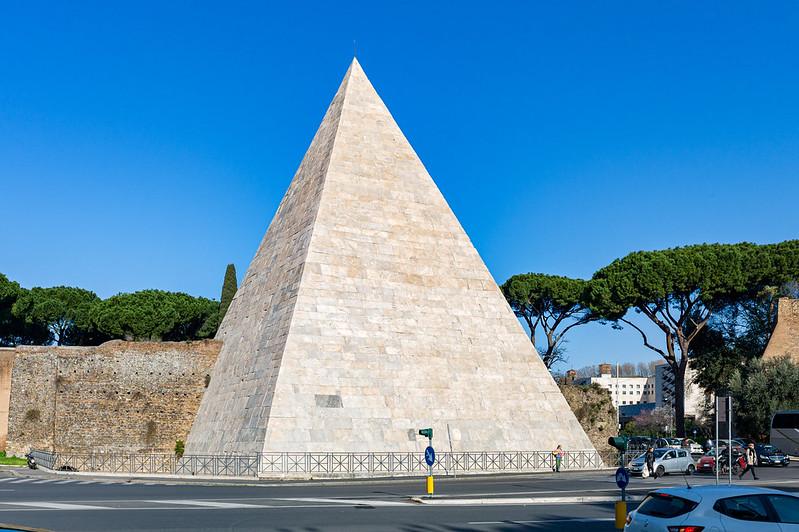 piramide cestia,  piramide cestia, gaius cestius, pyramid of romulus, who built the pyramid of cestius