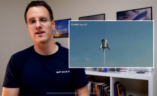 Marcus House talks about SpaceX Starship development and this previous Starhopper test (Source: @MarcusHouseGame)