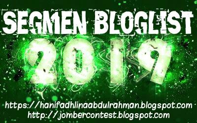 Segmen Bloglist 2019, Blogger Segmen, Blog,