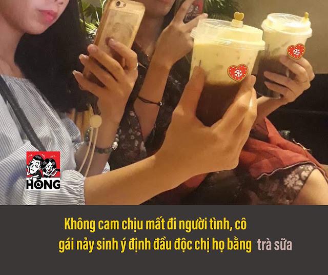 Lại Thị Kiều Trang đầu độc chị họ mình bằng cốc trà sữa