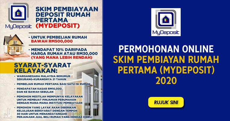 Permohonan Online Skim Pembiayaan Deposit Rumah Pertama Mydeposit 2020