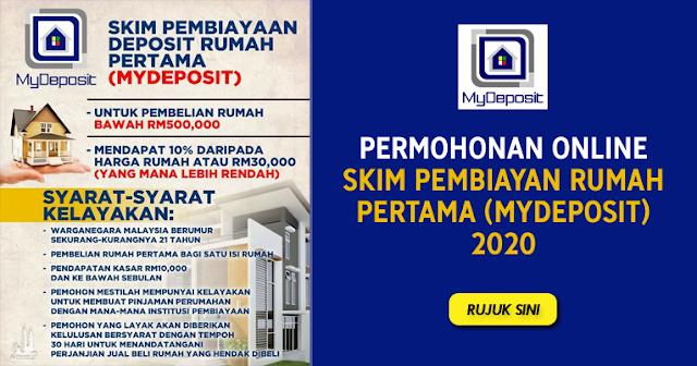 Permohonan Online Skim Pembiayaan Deposit Rumah Pertama MyDeposit