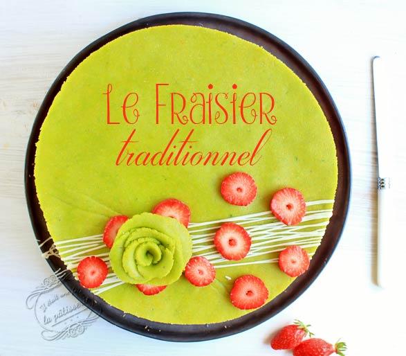fraisier pate damande