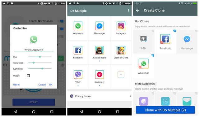 Do multiple accounts premium APK