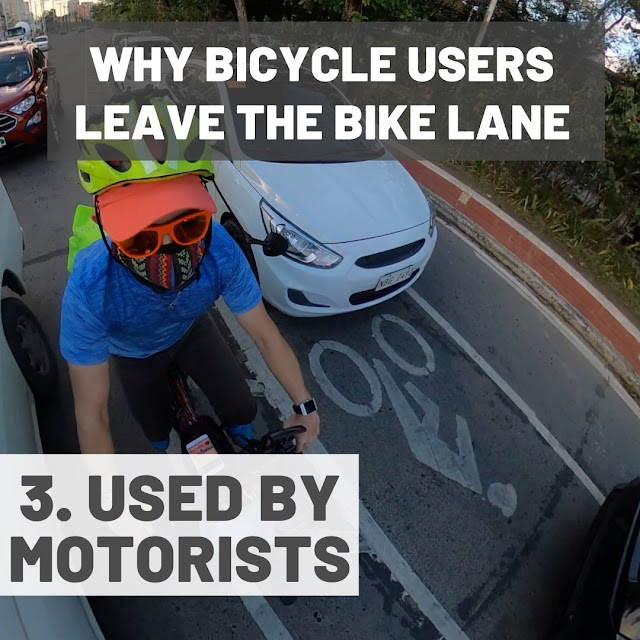 Bike lanes being used by by motorists