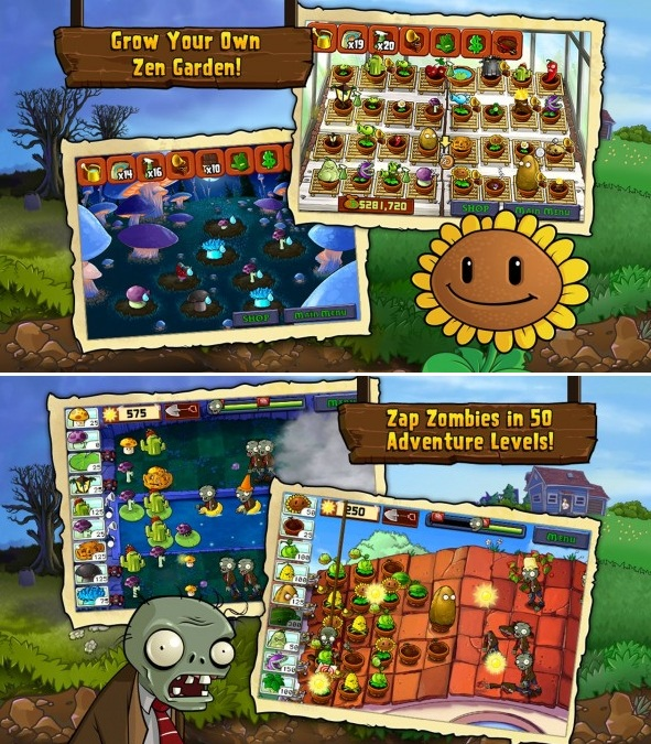 Download Game MOD : Plants vs. Zombies FREE Apk v1.1.49 (Infinite Sun/Unlock Store)