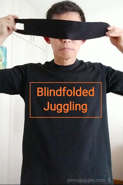 Singapore Juggler does Blindfolded Juggling