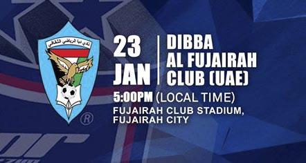 Live Streaming JDT vs Dibba Al Fujairah Club 23.1.2020.