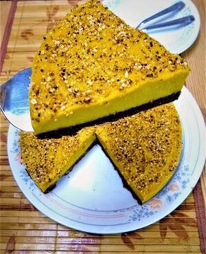 Paleo No-Bake Pumpkin Pie with Chocolate Hazelnut Crust (Keto, Gluten-Free,Refined Sugar-Free, Vegan) 3.jpg