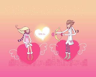 خلفيات كرتونية حب ورومانسية