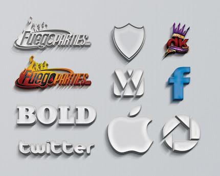 3D Logo Mockup Photoshop PSD