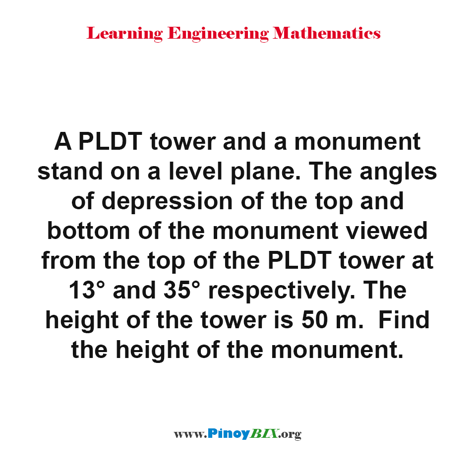 Find the height of the monument.