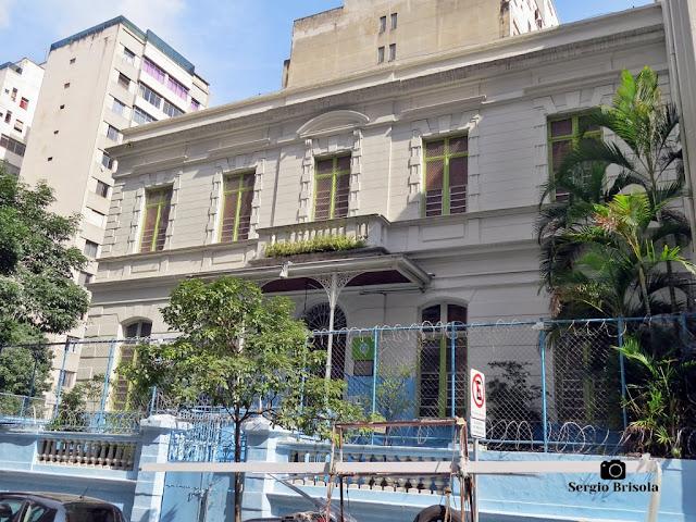 Vista da fachada do antigo Palacete de José de Vasconcellos de Almeida Prado - Centro - São Paulo