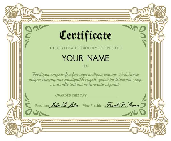 certificate of commendation template - happy delicious stuff clip art certificate template