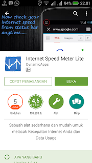 Internet Speed Meter Lite di Google Playstore