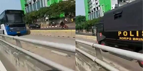 Truk Brimob Lewati Jalur Transjakarta Dilaporkan ke Propam