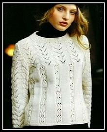 японский пуловер спицами (43)
