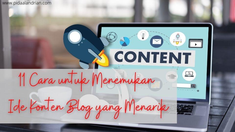 11 cara menemukan ide konten blog menarik